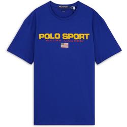 Tee Shirt Polo Sport Bleu/jaune - Polo Ralph Lauren - Modalova