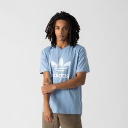 Tee Shirt Trefoil Bleu/blanc - adidas Originals - Modalova