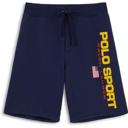 Short Polo Sport Bleu Marine/jaune - Polo Ralph Lauren - Modalova
