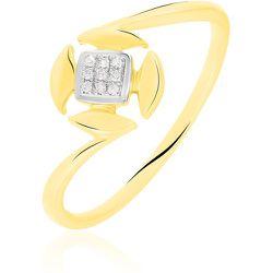 Bague Xaverine Or Bicolore Diamant - Histoire d'Or - Modalova