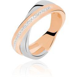 Bague Andrette Or Bicolore Diamant - Histoire d'Or - Modalova