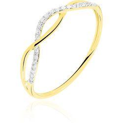 Bague Nucia Or Jaune Diamant - Histoire d'Or - Modalova