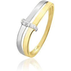 Bague Lisella Or Bicolore Diamant - Histoire d'Or - Modalova