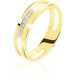 Bague Barrette Or Jaune Diamant - Histoire d'Or - Modalova