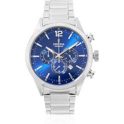 Montre Timeless Chronograph Bleu - Festina - Modalova