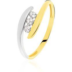 Bague Delphine Or Bicolore Diamant - Histoire d'Or - Modalova