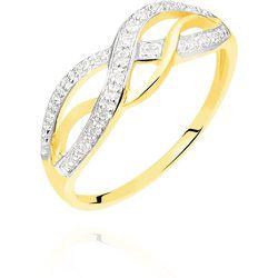 Bague Vaguelette Or Jaune Diamant - Histoire d'Or - Modalova