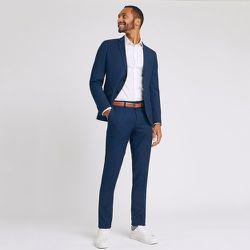 Pantalon de costume slim matière reliefée - Jules - Modalova