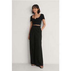 Recyclé Pantalon Plissé Taille Haute - Black - Buonalima x NA-KD - Modalova