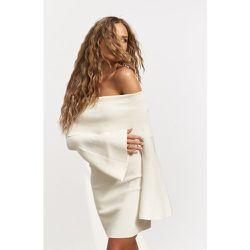 Robe Mini En Maille À Épaules Nues - Offwhite - Hanna Schönberg x NA-KD - Modalova