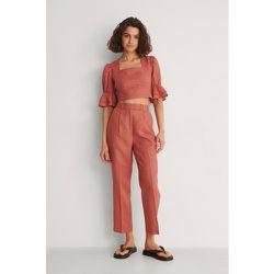 Pantalon En Lin - Pink - NA-KD Classic - Modalova