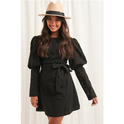 Anglaise LS Mini Dress - Black - NA-KD Boho - Modalova