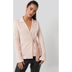 Asymmetric Side Tie Blazer - Pink - NA-KD Party - Modalova