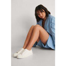 Basic Lace up Sneakers - White - NA-KD Shoes - Modalova