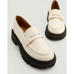 Mocassins Épais Style Rétro - White - NA-KD Shoes - Modalova