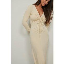 Maxi robe découpée - Beige - NA-KD Trend - Modalova