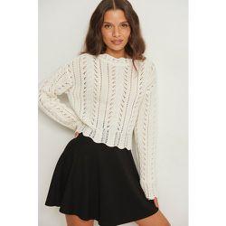 Biologique pull en tricot ornementé - Offwhite - Pamela x NA-KD Reborn - Modalova