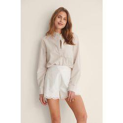 Shorts Taille Haute - White - NA-KD Boho - Modalova