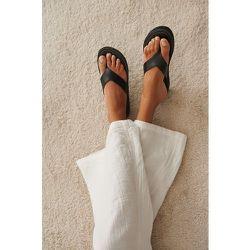 Sandales À Enfiler À Lanières En Cuir - Black - NA-KD Shoes - Modalova