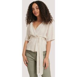 Kimono En Lin Mélangé - Beige - NA-KD Trend - Modalova