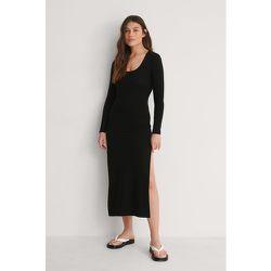Recyclée Robe Fendue À Manches Longues - Black - NA-KD Trend - Modalova
