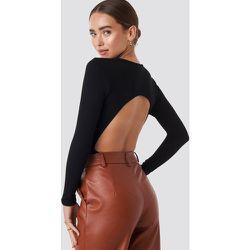 Open Back Bodysuit - Black - NA-KD Party - Modalova