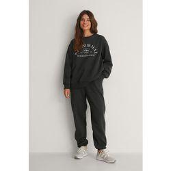 Pantalon De Survêtement Fuselé Brossé Biologique - Grey - NA-KD Trend - Modalova