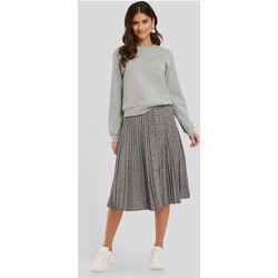 Plaid Pleated Midi Skirt - Grey - NA-KD Classic - Modalova