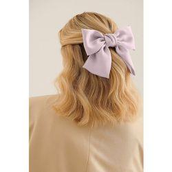 Nœud Pour Les Cheveux En Satin - Purple - NA-KD Accessories - Modalova