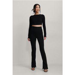 Pantalon À Fentes Avec Coutures - Black - NA-KD Trend - Modalova