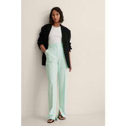 Pantalons De Costume À Fente - Blue - NA-KD Classic - Modalova