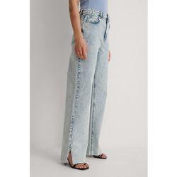 Biologique Jeans Coupe Droite - Blue - Marije Zuurveld x NA-KD - Modalova