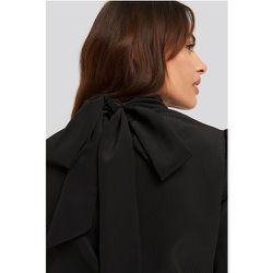 Structured Tie Back Blouse - Black - NA-KD Classic - Modalova