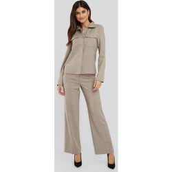 Pantalon De Costume À Jambe Large - Grey - NA-KD Classic - Modalova