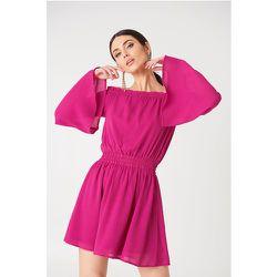Wide Sleeve Off Shoulder Dress - Pink - NA-KD Boho - Modalova