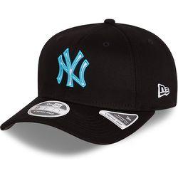 Casquette avec languette de réglage crantée stretch 9FIFTY des New York Yankees, noir fluo - newera - Modalova