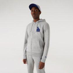 Sweat à capuche zippé et à logo desLA Dodgers, gris - newera - Modalova