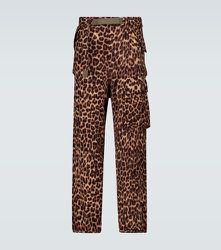 Pantalon cargo Leopard Shrivel en laine - sacai - Modalova