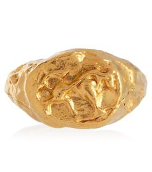 Bague Taurus en argent plaqué or 24 ct - Alighieri - Modalova