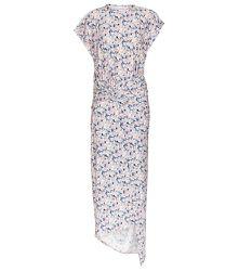 Robe asymétrique à fleurs - Paco Rabanne - Modalova
