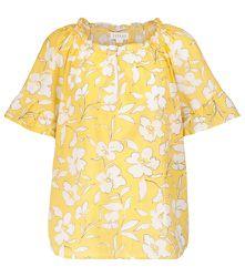 Top Idette en coton à fleurs - Velvet - Modalova