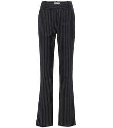 Pantalon rayé à taille haute en laine - Victoria Beckham - Modalova