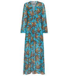 Robe longue Translucent Leaves imprimée - Dorothee Schumacher - Modalova