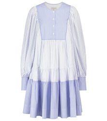 Robe longue Diana en coton à rayures - Lee Mathews - Modalova