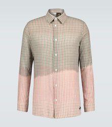 Chemise à carreaux tie-dye Paula's Ibiza - LOEWE - Modalova