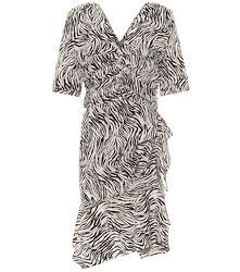 Robe Arodie en soie mélangée à motif zébré - Isabel Marant - Modalova
