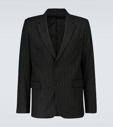 Blazer droit rayé en laine - AMI PARIS - Modalova