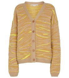 Cardigan en jacquard de laine mélangée à motif zébré - STELLA McCARTNEY - Modalova
