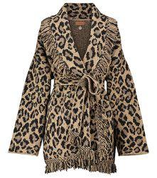 Veste en laine mélangée à motif léopard - ALANUI - Modalova