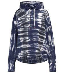 Sweat-shirt à capuche tie & dye en coton - Tory Sport - Modalova